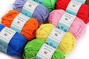 40 Acrylic Yarn Skeins, 1600 Yards Crochet Yarn with Reusable Storage Bag Includes 6 E-Books, 2 Crochet Hooks, 2 Weaving Needles, 4 Locking Stitch Markers for Crochet & Knitting by Inscraft