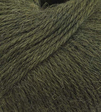 Load image into Gallery viewer, 100% Alpaca Yarn Wool Set of 3 Skeins Fingering Lace Worsted Weight - Heavenly Soft and Perfect for Knitting and Crocheting (Olive Green, Fingering)