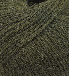 100% Alpaca Yarn Wool Set of 3 Skeins Fingering Lace Worsted Weight - Heavenly Soft and Perfect for Knitting and Crocheting (Olive Green, Fingering)