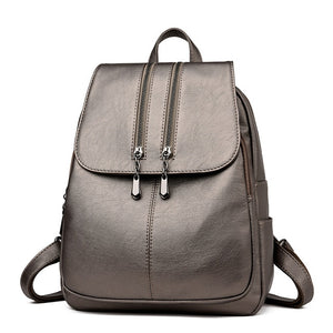 Laptop Backpack - Women's Leather Luxury Backpack