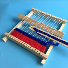 Load image into Gallery viewer, Wooden Weaving Craft Yarn Little Loom DIY Wool Knitting Machine Kids Educational Montessori Toys for Children