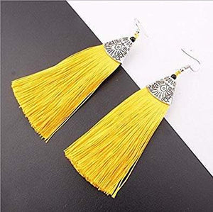 Tassel Earrings - African Thread drp Earrings