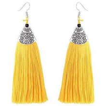 Load image into Gallery viewer, Tassel Earrings - African Thread drp Earrings