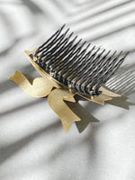 Load image into Gallery viewer, Sigrid Kuusk, hair-comb, golden shine. Estonian Jewellery.