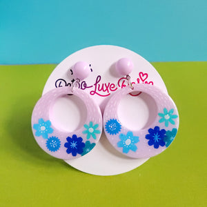 Spring! #5 Floral Hoop Earrings