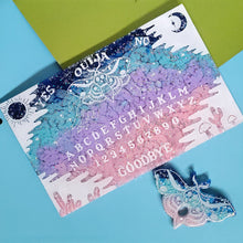 Load image into Gallery viewer, Spring! Pastel Twilight Sky Ouija Board and Planchette Home Decor