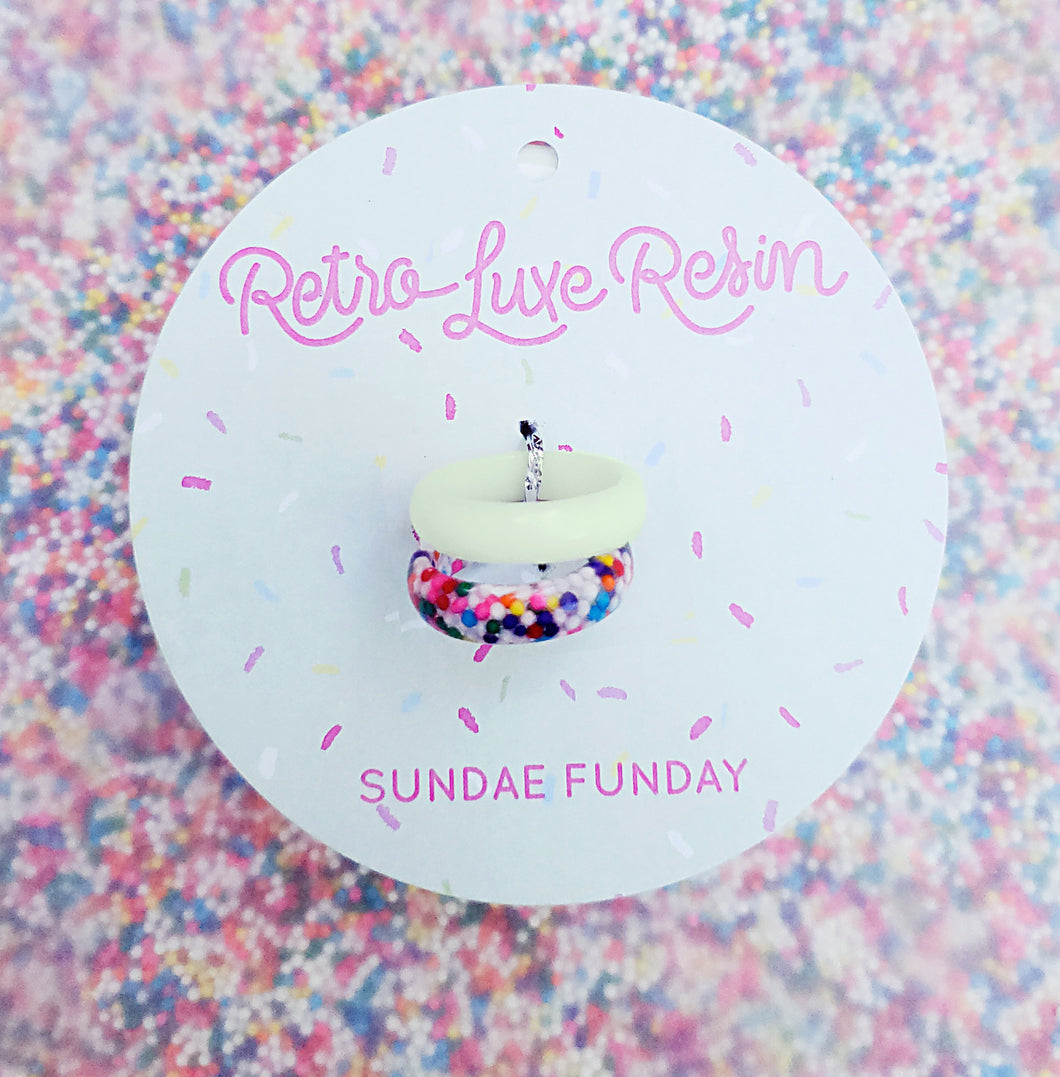 Sundae Funday Smooth Ring Set in Mint Cream