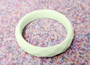 Sundae Funday Faceted Bangle in Mint Cream