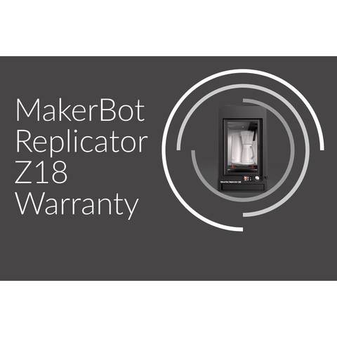 Makerbot Replicator Z18 3D Printer service contracts