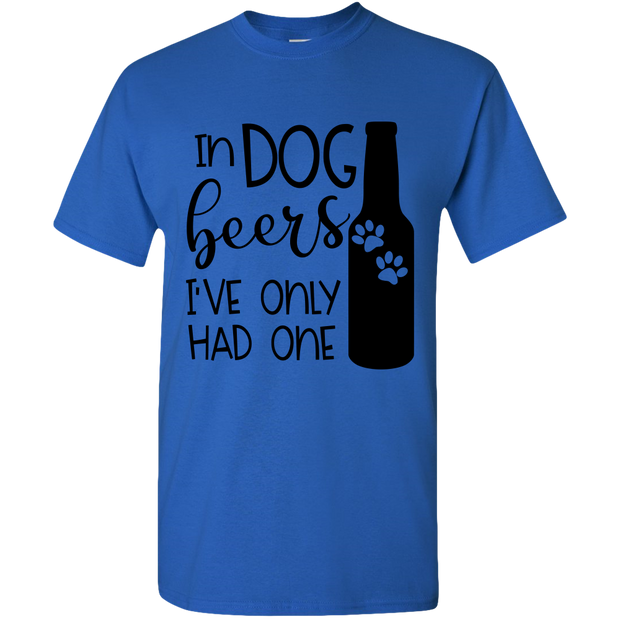 In Dog Beers Adult Standard Tee.