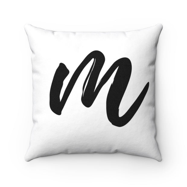 M Part of the Home pillow collection Polyester Square Pillow.