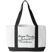 Personalized Treats and Bones Tote Bag.