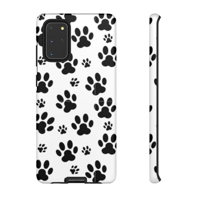 Black Paw Print Tough Cases.