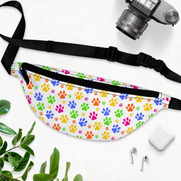 Colorful Paw Prints Fanny Pack.