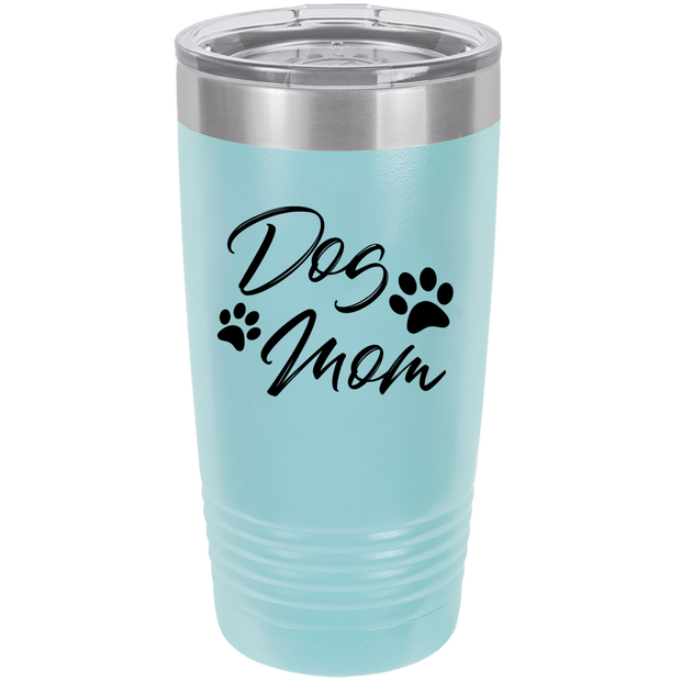 Dog Mom Polar Camel - 20 oz Ringneck Tumbler {Laser Etched No Colored Art}.