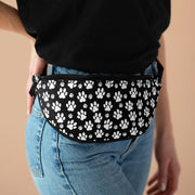 White Paw Prints Fanny Pack.