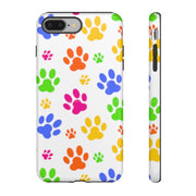 Colorful Paws on White Tough Case.