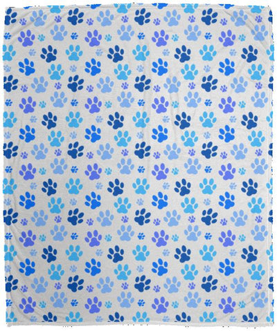 Bigger Blue paws VPM Cozy Plush Fleece Blanket - 50x60.