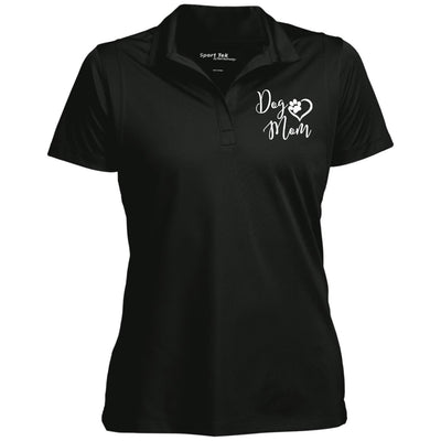 dog mom v2.png - white LST650 Women's Micropique Tag-Free Flat-Knit Collar Polo.