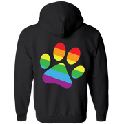 Rainbow Paw/Dog Dad - Adult Zipper Hoodie.