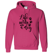 Life is Better with a Dog Adult Hoodie