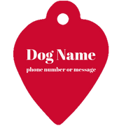 Pet tag - Heart Shape {Laser Etched No Colored Art}