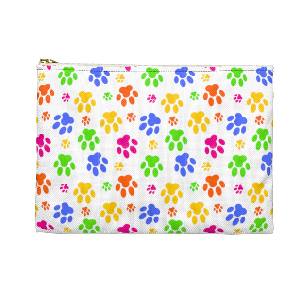 Colorful Paw Prints Accessory Pouch