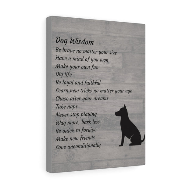 Dog Wisdom Canvas.