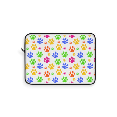 Colorful Paws Laptop Sleeve.