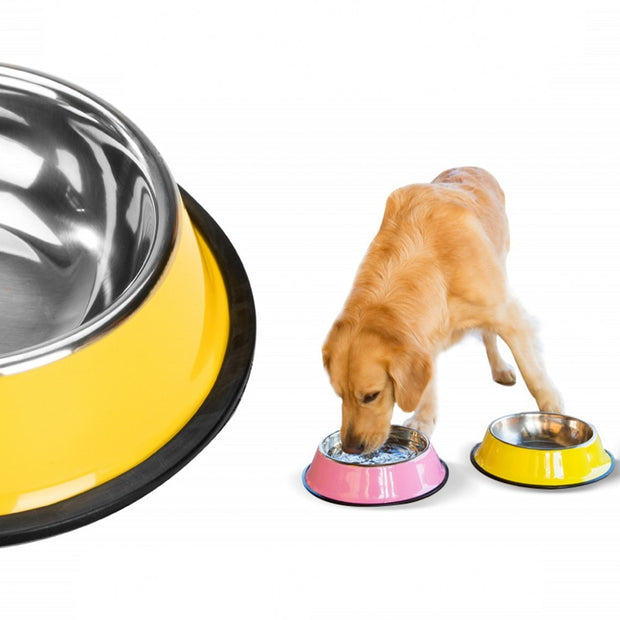 S-3XL Dog Bowls Stainless Steel Feeder/Water Bowl For Dog in 6 sizes