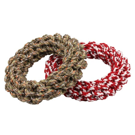 Bite-Resistant Cotton Rope Rings Toys For Dog Medium or Large Dog.