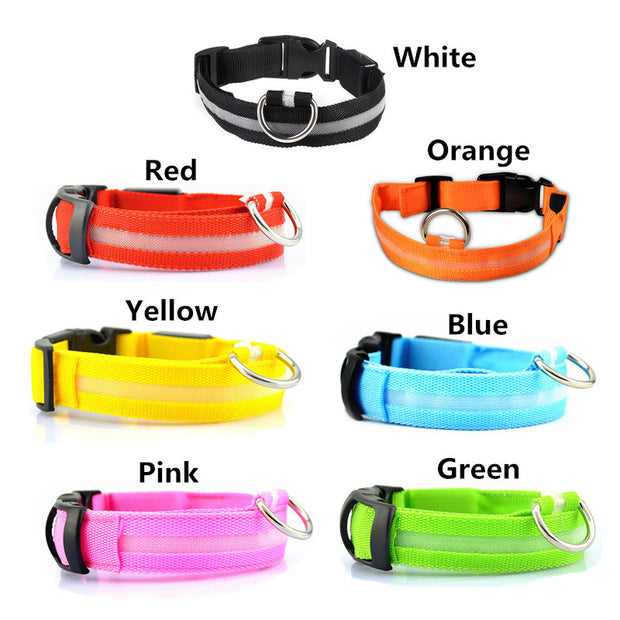 USB Rechargeable Dog LED Glowing Collar.