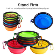 Folding Portable Dog Bowl Travel Bowl with Buckle
