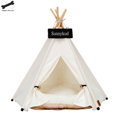 Portable Dog Teepee With Thick Cushion.
