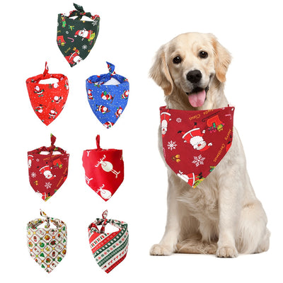 Christmas Dog Scarf Bandana.