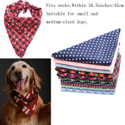 Pet Dog Bandanas Reversible Triangular Bandage Dog Scarf.