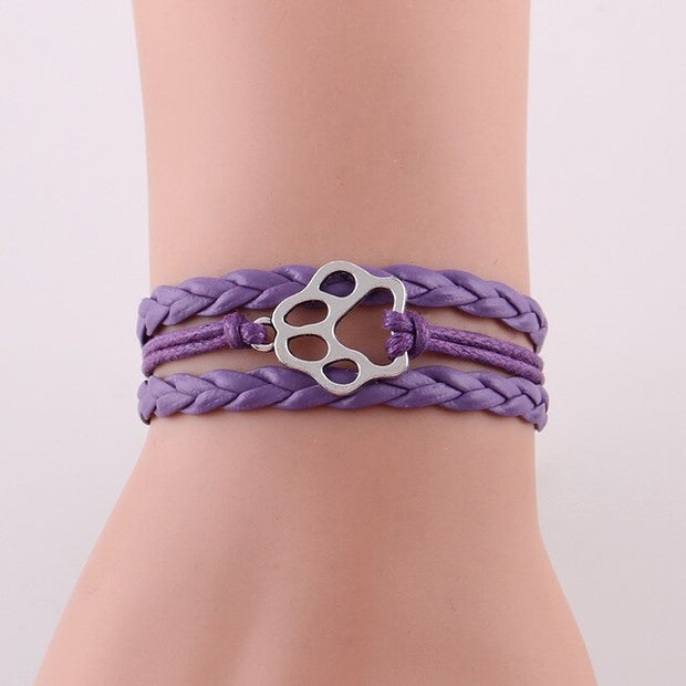 Dog Paw Stacked Bracelet.