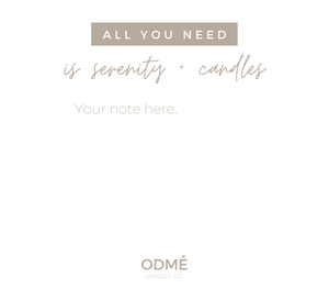 *NEW!* 7 Options for a Custom Gift Message - ODMÉ Candle Co.