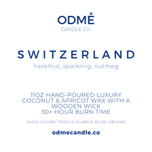 Load image into Gallery viewer, Switzerland - ODMÉ Candle Co.