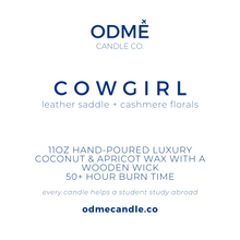 Load image into Gallery viewer, Cowgirl - ODMÉ Candle Co.