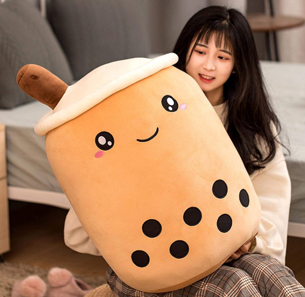 Large or Gigantic Boba Milk Tea Boba Plush