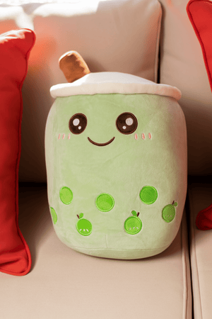 Medium Happy Bubble Milk Tea Boba Plushie 13.8 inches