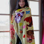 Fleece Cute Boba Blanket, 60x50""