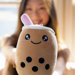 Happy Boba Plushie w/ Secret Zipper Compartment