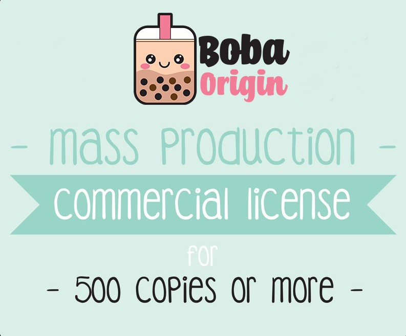 Commercial Use License - Mass Production License - 500 Copies or more - Good For One Clip Art Set