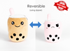The Original Happy and Mad Reversible / Secret Pouch Boba Plushie