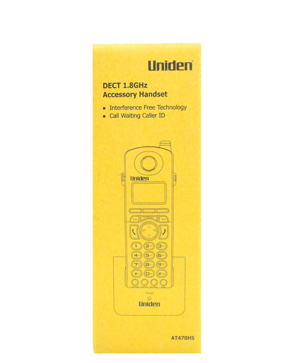 Uniden DECT 1.8Ghz Accessory Handset AT470HS