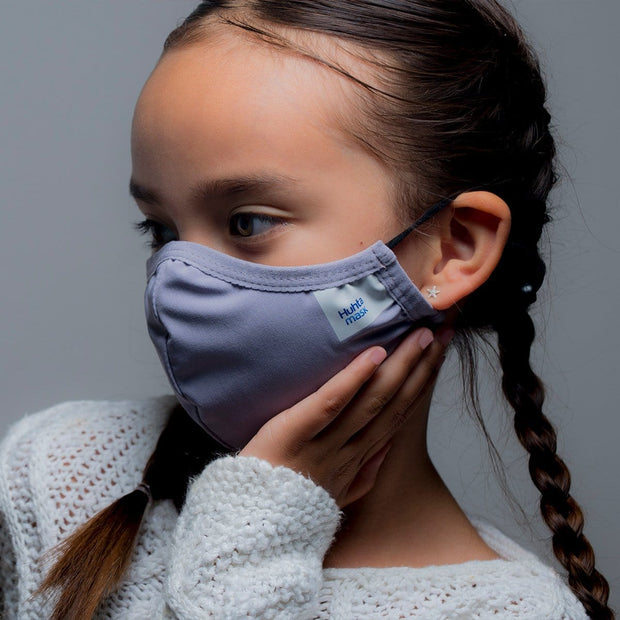 Huhta Mask Childs Face Mask in Lavender Grey | Reusable face mask, Fluid repellent mask, anti-microbial mask, breathable mask online