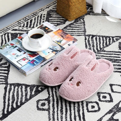 Chaussons Peluche Lapin Femme