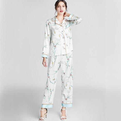 Pyjama Pantalon Satin 'Welcome Home'